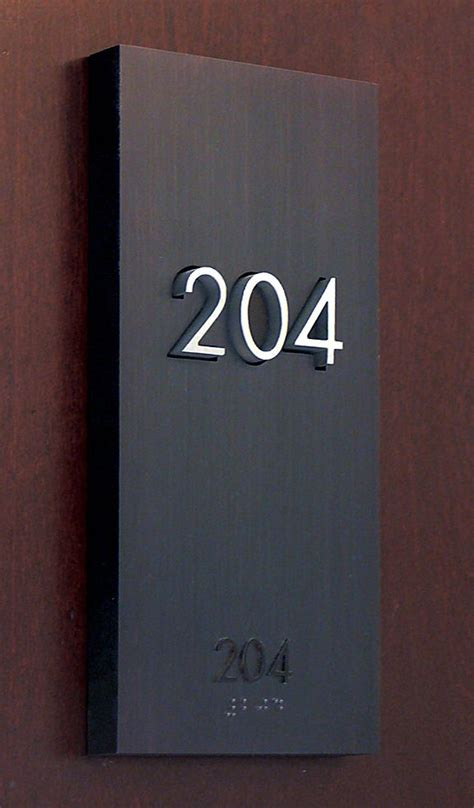 Signage Hotel Room Number Hotel Pinterest Room Signs