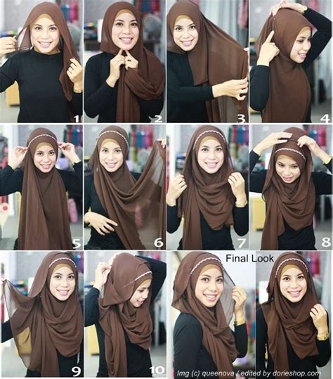 tutorial hijab easy style 10 new hijab tutorials to try the muslim girl