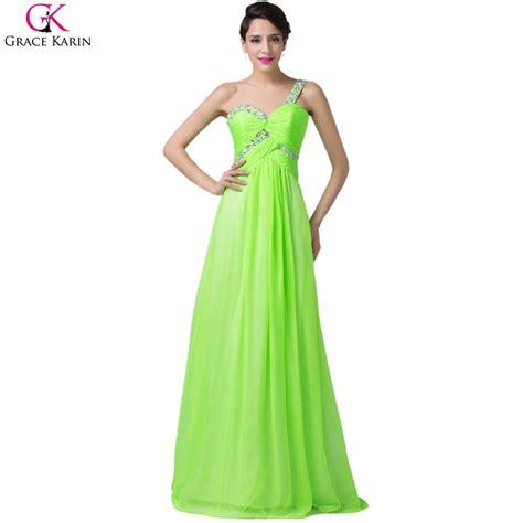 Chiffon Dress Green 30799 aliexpress buy sweetheart cheap grace karin sequin sleeveless one shoulder lime green