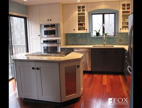 Gray Kitchen Cabinet Ideas octagonal kitchen island fox woodworking