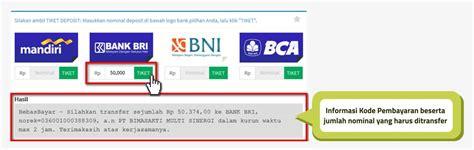 format sms banking bni bayar tiket kereta cara setor uang ke layanan pemabayaran online terlengkap