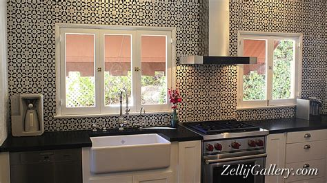 moroccan tile kitchen backsplash black and white moroccan tiles kitchen backsplash yelp