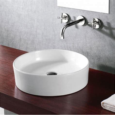 bathroom countertops for vessel sinks round european design white black porcelain ceramic