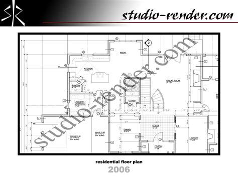 plan drawings studio render com cad drafting