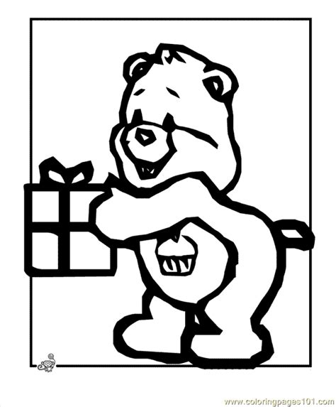 birthday bear coloring page free coloring pages of birthday bear