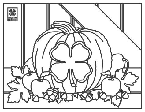 4 H Clover Coloring Pages by 4 H Clover Coloring Pages Coloring Page