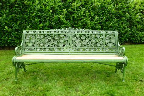 coalbrookdale garden bench coalbrookdale nasturtium pattern garden bench 5083