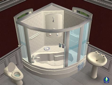 shower bath unit mod the sims corner bath and shower unit now fully working 2011