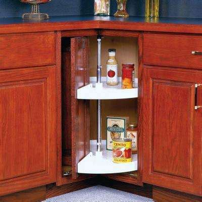 Revolving Corner Cabinet Lazy Susans Kitchen Storage Amp Organization The Home Depot