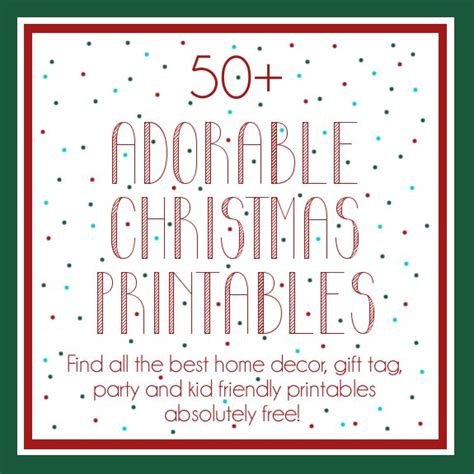 Cute Kitchen Ideas free christmas printables
