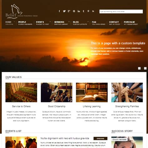 Wordpress Church Templates 25 inspiring church website templates
