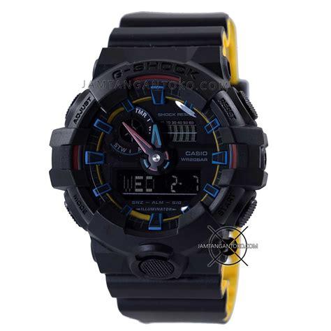 gambar jam tangan g shock ga 700se 1a9 hitam kuning ori bm 187 jamtangantoko