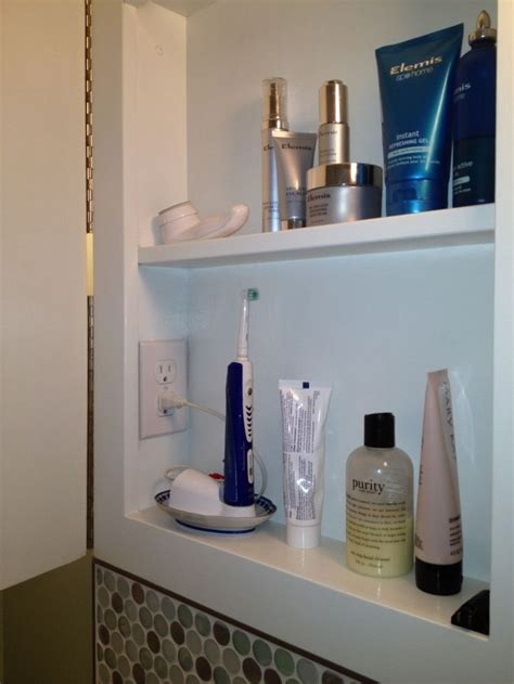 medicine cabinet with electrical outlet 16 best toothbrush storage images on pinterest bath