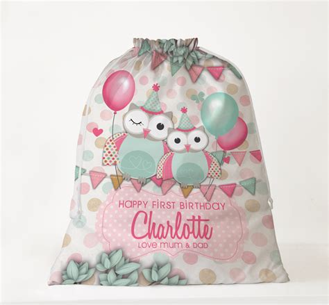 personalised kids birthday gift bags spatz mini peeps 174