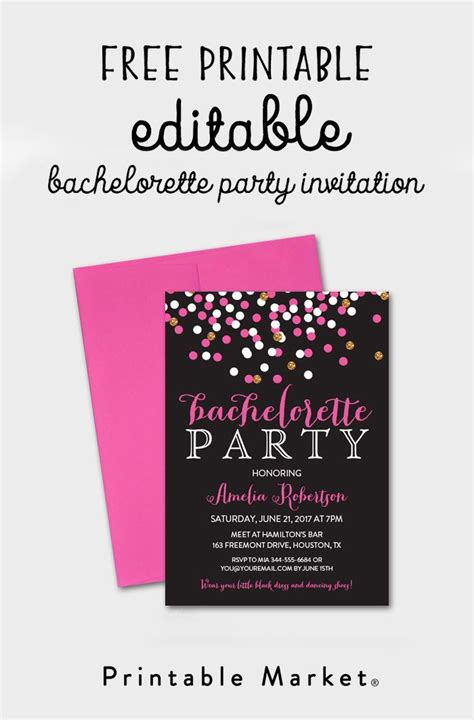 free editable printable birthday invitations free editable bachelorette party invitation gray hot