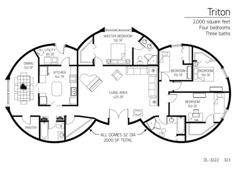 floor plan dl 3215 monolithic dome institute floor plans 4 bedrooms monolithic dome institute
