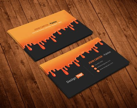orange and black business card psd design techfameplus 35 free black business card psd templates designyep