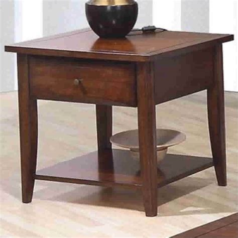 coaster walnut whitehall end table with shelf drawer