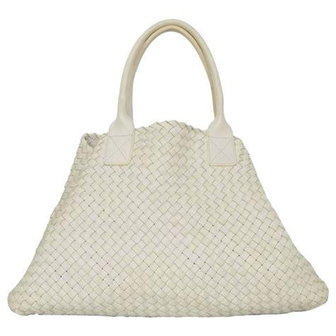 Bottega Venetta 2003 bottega veneta white woven leather large cabat tote bag rt 10 300 for sale at 1stdibs