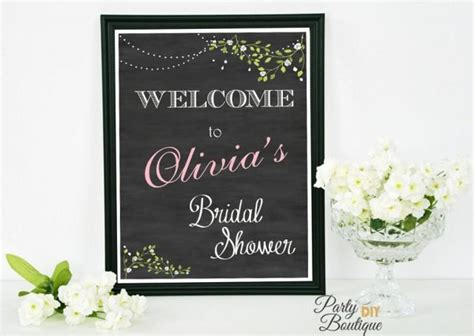 Welcome To Bridal Shower Sign by Bridal Shower Sign Chalkboard Welcome Sign Bridal