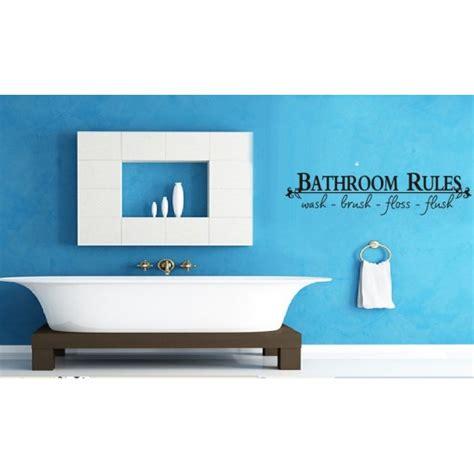 bathroom rules decal bathroom rules wall decal walldecalscanada ca