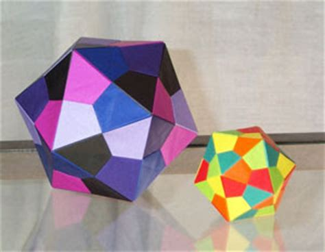 Construction Paper Origami - origami maniacs origami icoshedron