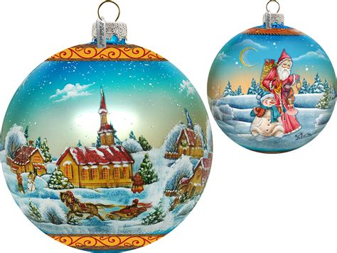 winter village christmas ball limited edition scenic