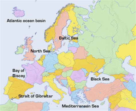 map of europe with seas image adapted from modified by supnet