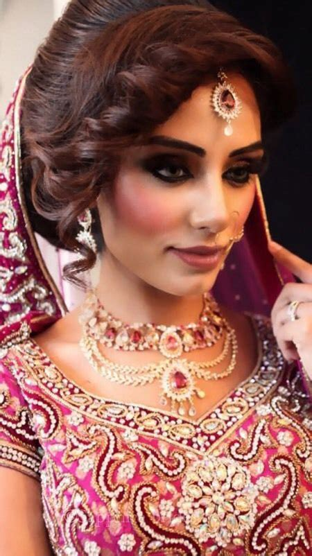 Bridal Hairstyles For Asian Brides by Asian Bridal Makeup And Hairstyle Shanila S Corner