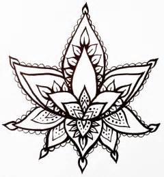 Henna Lotus Flower Designs Lotus Flower Temporary Henna Style