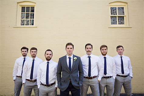 Wedding Attire No Jacket by Groom In Suit Jacket And Groomsmen Without