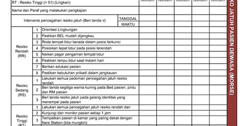 format skripsi keperawatan contoh format rekama medis anak pengkajian intervensi
