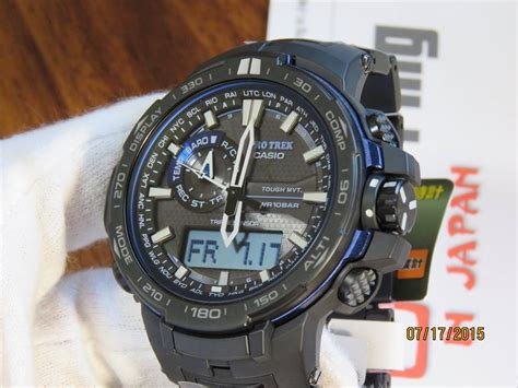 protrek black titan limited prw 6000yt 1bjf blue moment 6