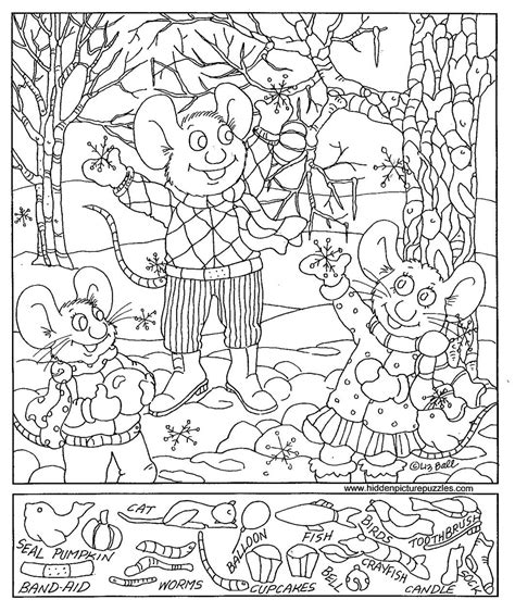 printable hidden pictures puzzles free coloring pages of find the hidden objects