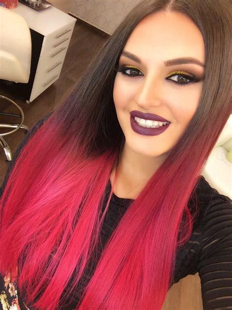 dip dyed red hairstyles blonde hair with red underneath hair colors ideas