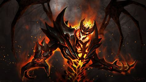 Dota 2 Nevermore Arcana Wallpaper | nevermore the shadow fiend dota 2 wallpapers