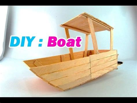 how to make a boat using craft sticks how to make a boat using popsicle