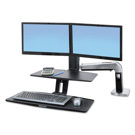 Ergotron Sit Stand Desk Workfit A Sit Stand Workstation W Suspended Keyboard By Ergotron 174 Erg24392026