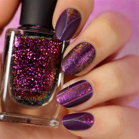 matte purple nail 20 matte nails that are anything but flat go matte