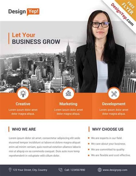 corporate business free flyer psd template http