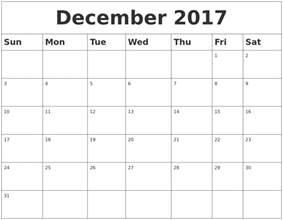 december 2017 calendar australia printable template with