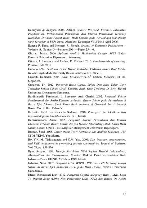 Analisis Investasi Dan Aplikasi Dlm Aset Keuangan Aset Riil thesis journal analisis pengaruh inflasi nilai tukar