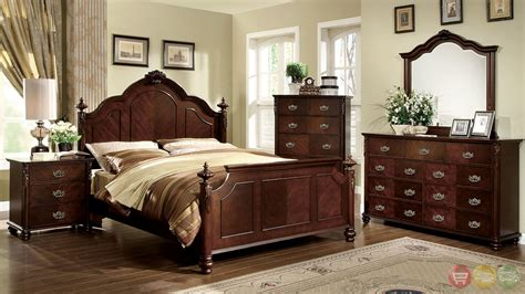 traditional bedroom furniture sets roseland traditional brown cherry bedroom set with