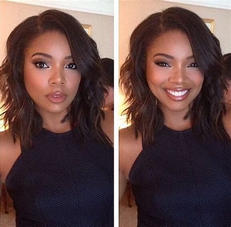 how many inches is gabrielle union weave gabrielle union long bob hairstyle longer bob hairstyles