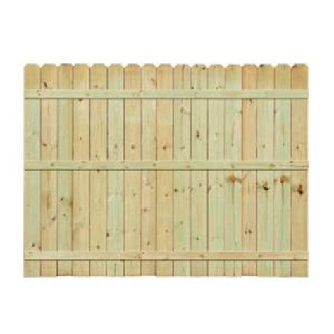 6 ft h x 8 ft w pressure treated pine ear fence