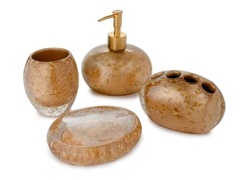 nicole miller bathroom accessories nicole miller gold rush bath set home woot