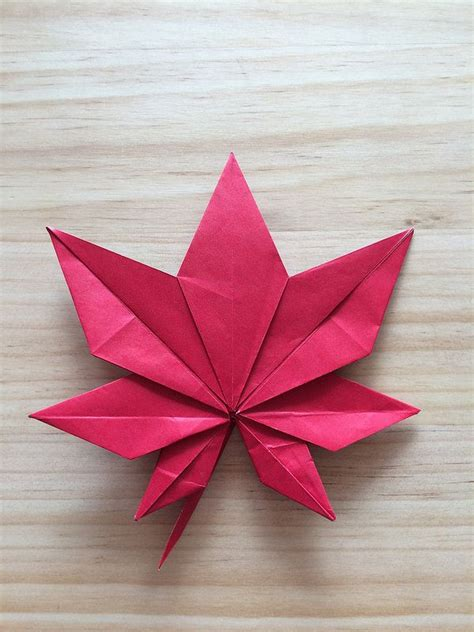 Origami Leave - 17 best images about origami leaves on how to
