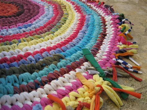 material for rag rugs joyful crocheted fabric rag rug crochet knitting sewing stitching haken