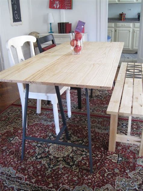 Ikea Dining Table Legs How To Deal W Some Ikea Vika Lerberg Trestle Legs For The House