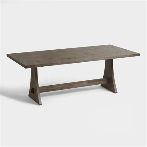 Rustic Wood Brinley Fixed Dining Table Market